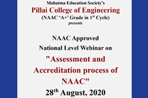 NAAC approved National Level Webinar on Assessment and Accreditation process of NAAC